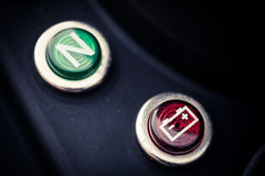 Motorcycle battery indicator Stock Images