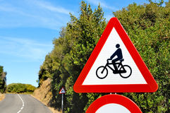 Motorcycle and bicycle sign Stock Photo