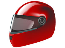 Motorcycle bike helmet. Red motorcycle bike helmet illustration vector illustration