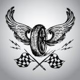 Motorcycle bike label Royalty Free Stock Photo