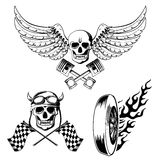 Motorcycle bike labels set Royalty Free Stock Photography