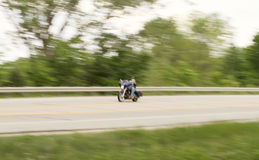 Motorcycle biker blur Royalty Free Stock Images