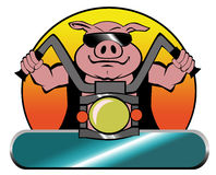 Motorcycle Biker Hog on a Harley. Motorcycle biker hog riding a Harley Royalty Free Stock Photography