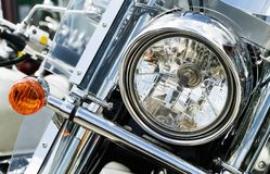 Motorcycle Bits: Headlight Royalty Free Stock Images