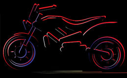 Motorcycle on black background, moto illustration. Motorcycle on black background,moto illustration, vector silhouette of bike Royalty Free Stock Photo