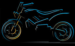 Motorcycle on black background, moto illustration. Motorcycle on black background,moto illustration, vector silhouette of bike Royalty Free Stock Photos