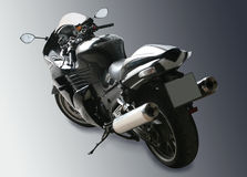 Motorcycle on black gradient background Royalty Free Stock Photos