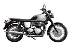 Motorcycle. Black motorcycle with white background Royalty Free Stock Photo