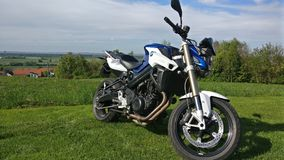 Motorcycle. BMW  F800R nature view Stock Images
