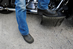 Motorcycle Boots Stock Photography
