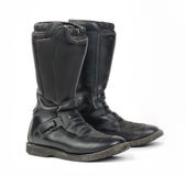 Motorcycle Boots. Stock Photos