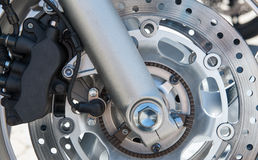 Motorcycle brake Stock Photos
