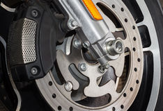 Motorcycle brake disc Stock Images