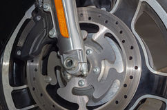 Motorcycle brake disc Stock Image