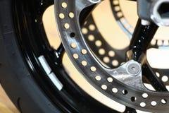Motorcycle brake disc Royalty Free Stock Image