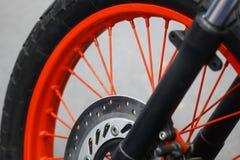 Motorcycle brake disc Stock Image