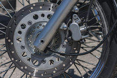 Motorcycle brake disc Royalty Free Stock Images