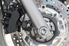 Motorcycle brake disk Stock Photos