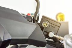 Motorcycle brake fluid, brake reservoir Royalty Free Stock Images