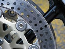 Motorcycle brakes Stock Photography