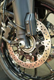 Motorcycle braking system Stock Photography