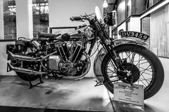 Motorcycle Brough Superior Overhead 680, 1929. Royalty Free Stock Photos