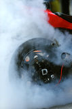 Motorcycle burnout. Close up photo Royalty Free Stock Images