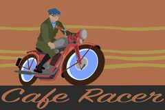 Motorcycle Cafe Racer royalty free stock images