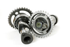 Motorcycle Camshaft Gears Royalty Free Stock Photography