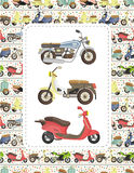 Motorcycle Card Stock Photos