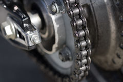 Motorcycle Chain. Macro or close-up of a motorcycle chain Royalty Free Stock Images
