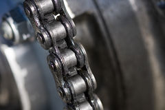 Motorcycle Chain Stock Photography