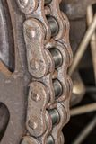 Motorcycle chain in detailed image. Photo of motorcycle chain in detailed image Royalty Free Stock Photography