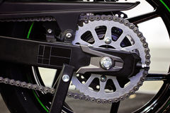Motorcycle chain Royalty Free Stock Photo