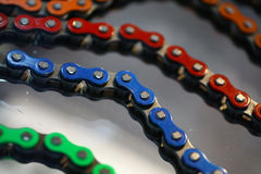 Motorcycle chains Stock Photos