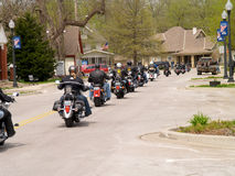 Motorcycle Charity Ride. April 26, 2008 Belton, Mo. The second annual Bikers, Blues & BBQ Charity Poker Run was Saturday at the Belton Eagles Lodge, 310-312 Main Royalty Free Stock Photos