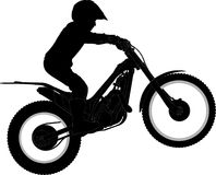 Motorcycle. Child on a bike, contour plotted with details Royalty Free Stock Photo