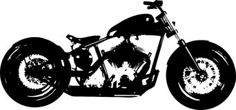 Motorcycle Chopper Bomber Silhouette. A computer generated motorcycle clip art silhouette stock illustration