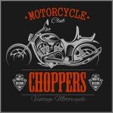 Motorcycle Chopper logo. Vector vintage garage logotype. Motorbike. Stock Image