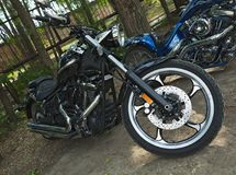 Motorcycle chopper. Motorcycle of Russia stock photo