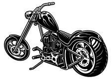 Motorcycle chopper on white background Royalty Free Stock Photo