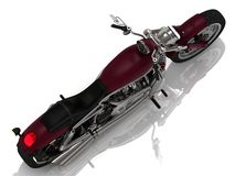 Motorcycle with a chrome engine Top view Royalty Free Stock Photography