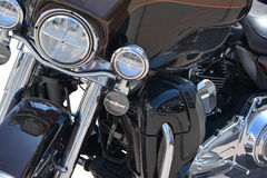 Motorcycle chrome metal grille Stock Photography
