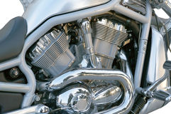 Motorcycle chrome metal grille Stock Images