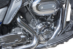 Motorcycle chrome metal grille Stock Image