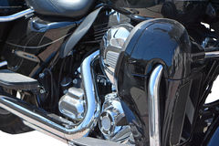 Motorcycle chrome metal grille Stock Photos