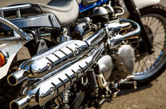 Motorcycle Chrome Stock Photos