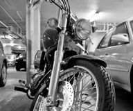 Motorcycle chrome wheel royalty free stock images