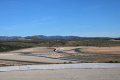 Motorcycle circuit in the desert of Almeria royalty free stock images