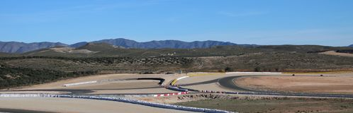 Motorcycle circuit in the desert of Almeria stock photography